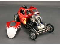 1:18 Drag Car Red Flames