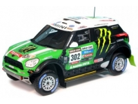 1:43 Mini All 4 Racing #302 S.Peterhansel-J.P.Cottret Winner Dak