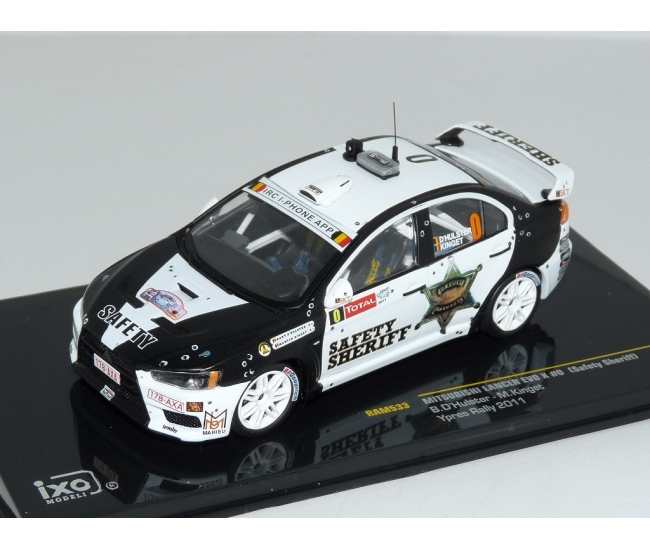 1:43 Mitsubishi Lancer Evo X Safery Sheriff Ypres Rally 2011