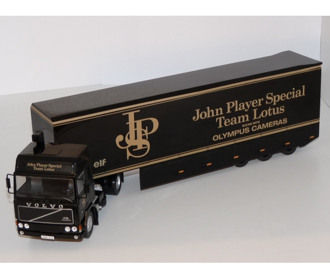 "1:43 Volvo F12 ""John Player Special"" Racing Transporter"
